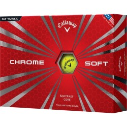 Callaway Chrome Soft Yellow Logo Golf Balls
