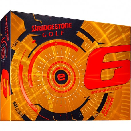 Bridgestone e6 Straight Flight Orange Logo Golf Balls