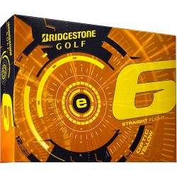 Bridgestone e6 Straight Flight Yellow Logo Golf Balls