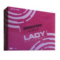 New Bridgestone Lady Precept Logo Golf Balls Pink
