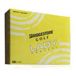 New Bridgestone Lady Precept Logo Golf Balls Optic Yellow