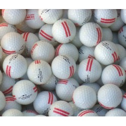 Pinnacle Used Range Ball UR 25 Red Stripe
