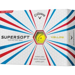 Callaway Supersoft Yellow Logo Golf Balls
