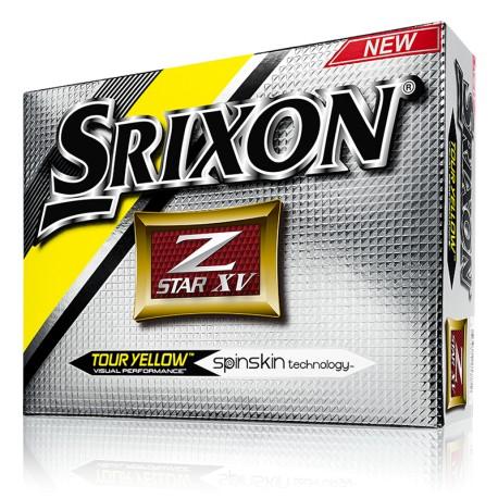 Srixon Z Star XV  Logo Golf Balls Tour Yellow