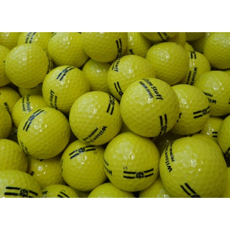 New Wilson Premium Range Balls 2-PC Yellow