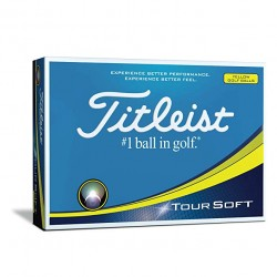 Titleist Tour Soft Logo Yellow Golf Balls
